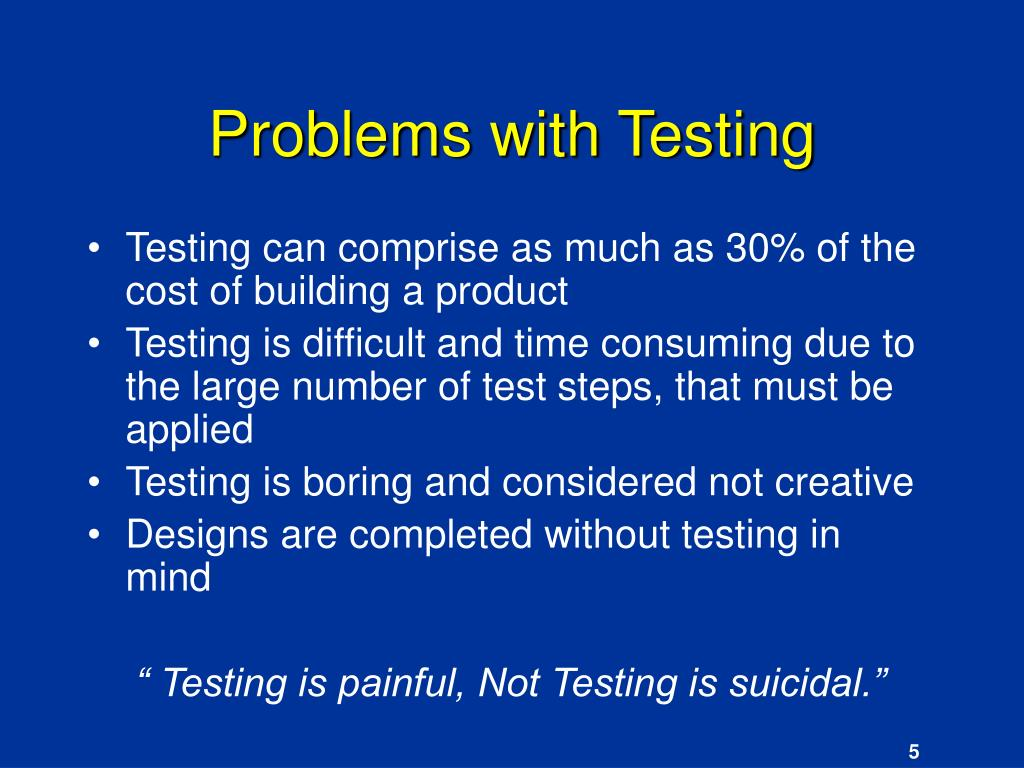 Problems with Testing