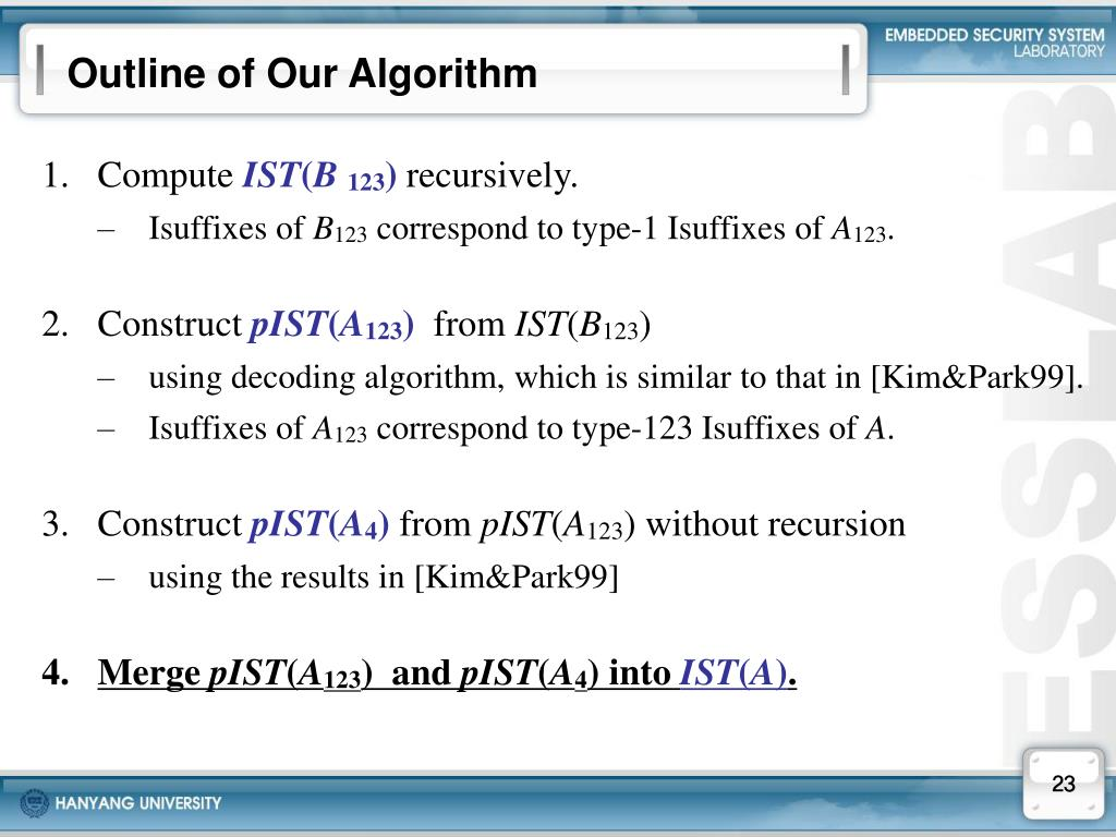 Outline of Our Algorithm
