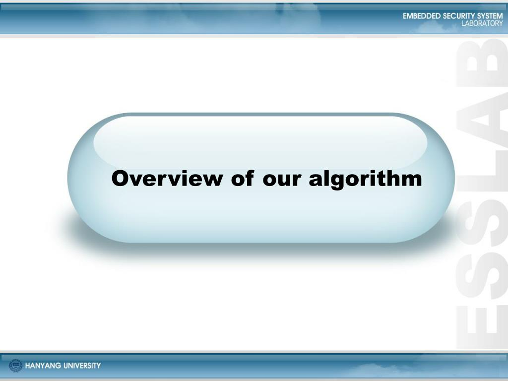 Overview of our algorithm