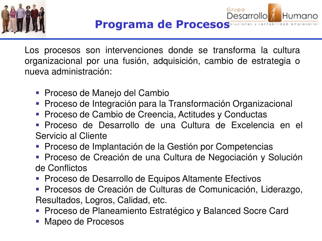 Programa de Procesos