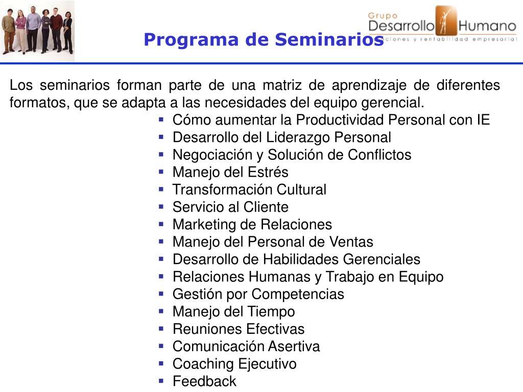 Programa de Seminarios