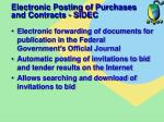 electronic posting of purchases and contracts sidec