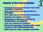 impacts of the inverse auction82