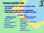 inverse auction use