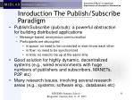 inroduction the publish subscribe paradigm