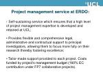 project management service at erdo