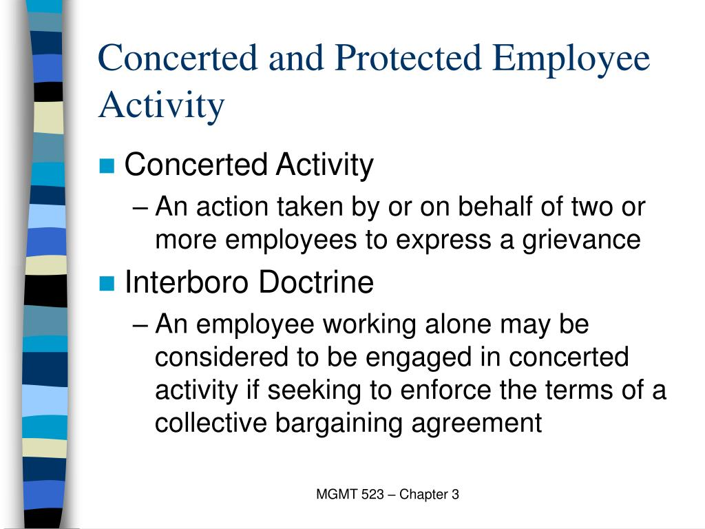 Concerted and Protected Employee Activity