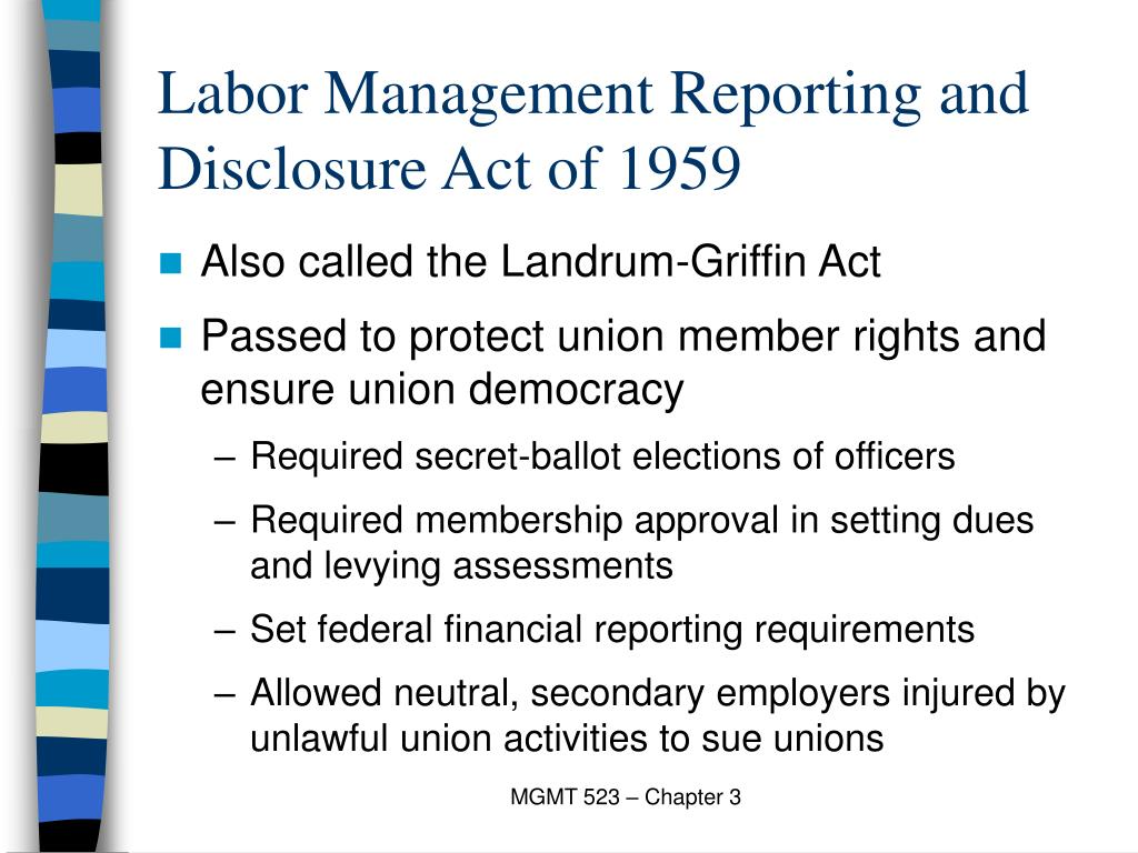 Labor Management Reporting and Disclosure Act of 1959