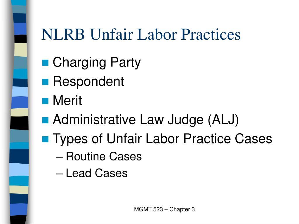 NLRB Unfair Labor Practices