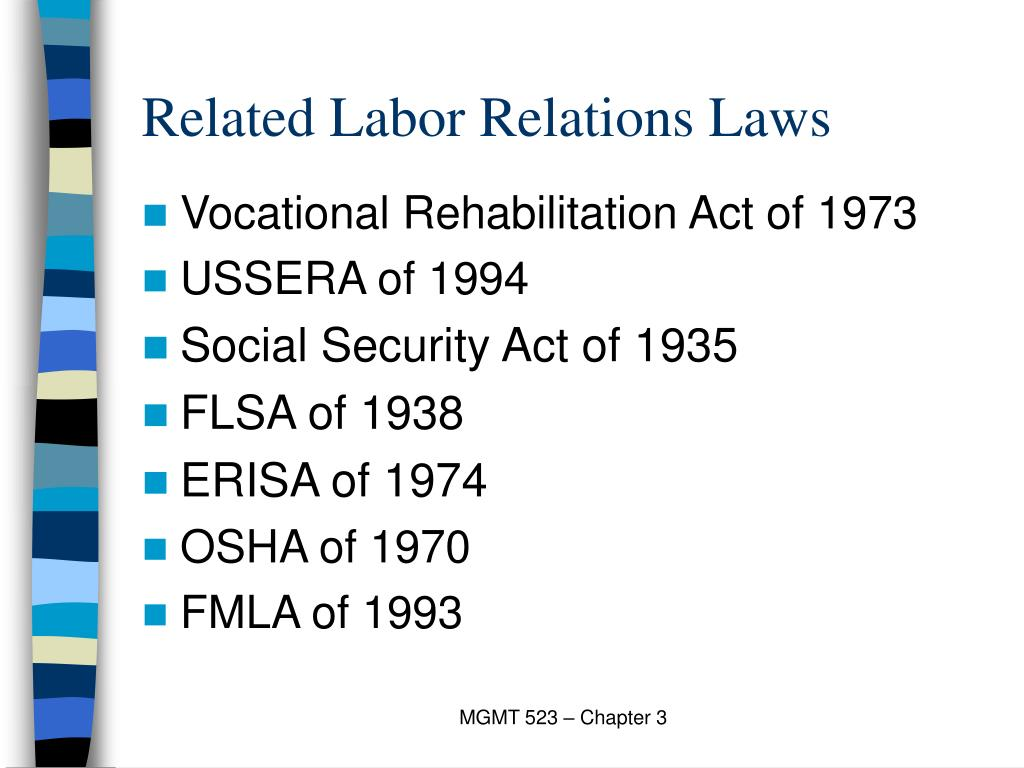 Related Labor Relations Laws