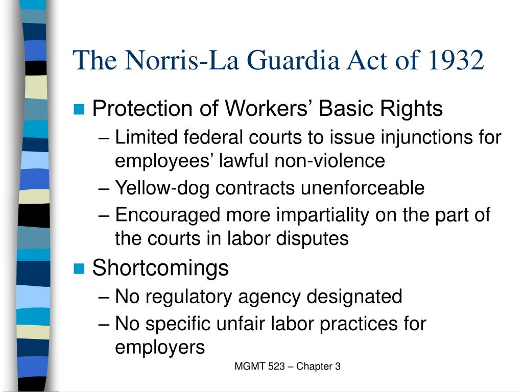 The Norris-La Guardia Act of 1932