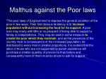 malthus against the poor laws