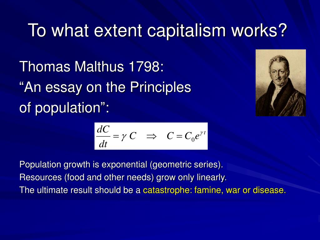 To what extent capitalism works?