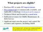 what projects are eligible