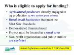who is eligible to apply for funding