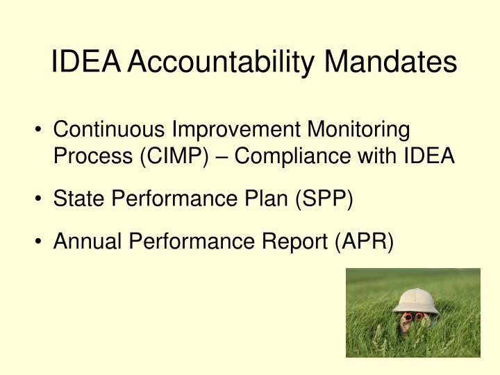 Idea accountability mandates