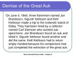 demise of the great auk
