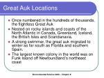 great auk locations