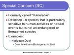 special concern sc