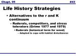 life history strategies43