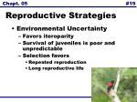 reproductive strategies19