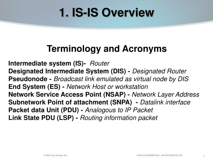 1 is is overview