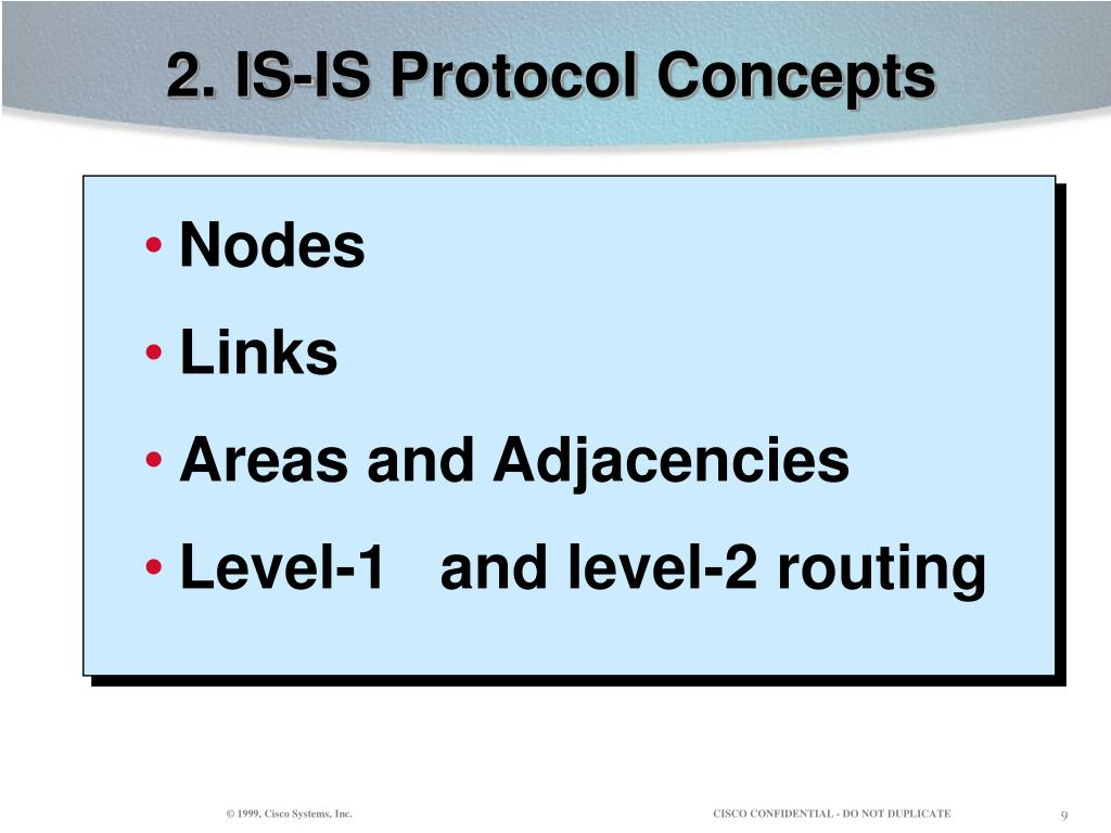 2. IS-IS Protocol Concepts
