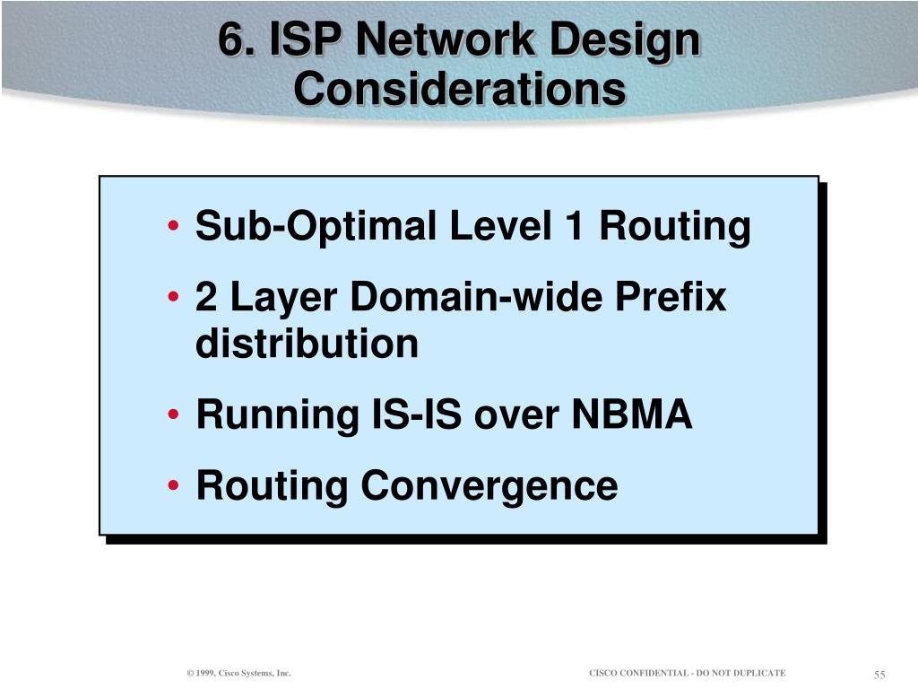 6. ISP Network Design Considerations