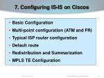 7 configuring is is on ciscos