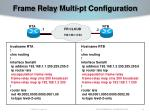 frame relay multi pt configuration