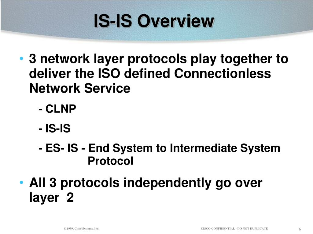 IS-IS Overview