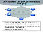isp network design considerations mesh group