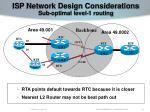 isp network design considerations sub optimal level 1 routing57