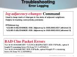 troubleshooting error logging