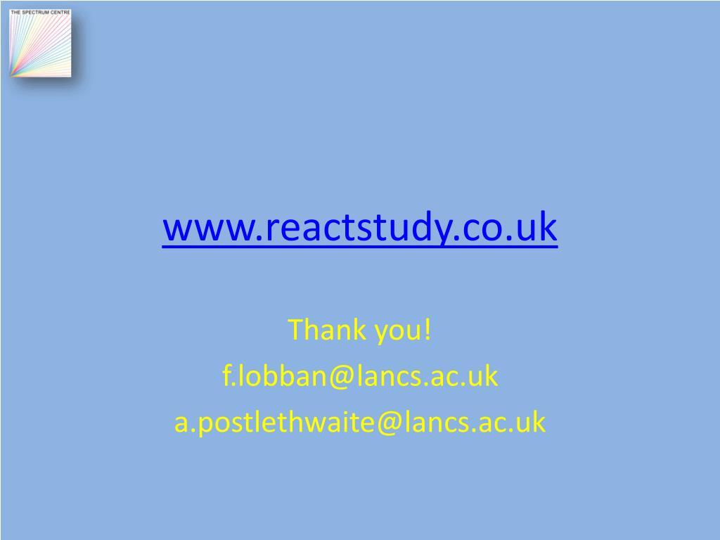 www.reactstudy.co.uk