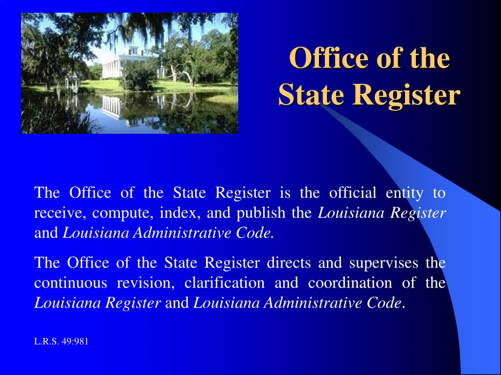 Office of the State Register