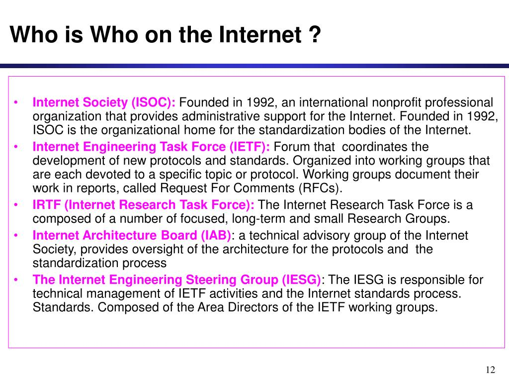 Who is Who on the Internet ?
