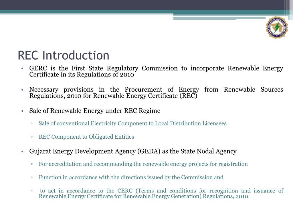 REC Introduction
