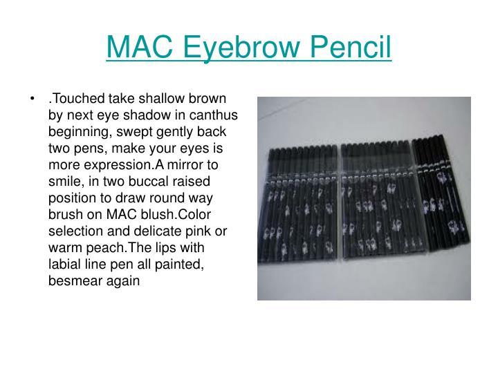 mac eyebrow pencil n.