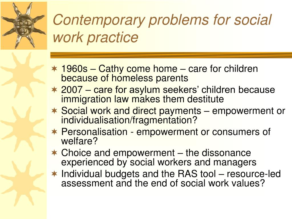 Contemporary problems for social work practice