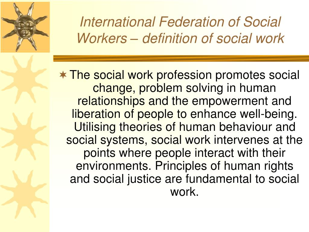 International Federation of Social Workers – definition of social work