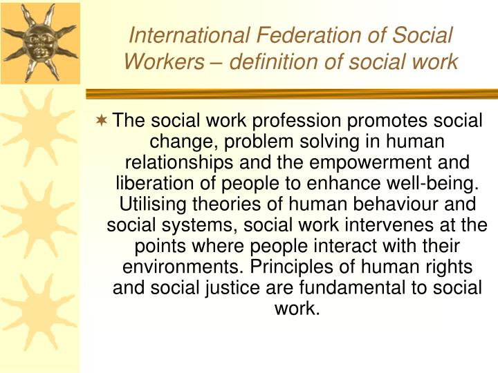 International federation of social workers definition of social work