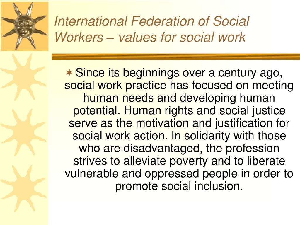 International Federation of Social Workers – values for social work