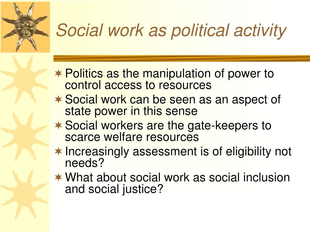 Social work as political activity