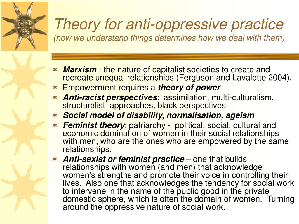 Theory for anti-oppressive practice
