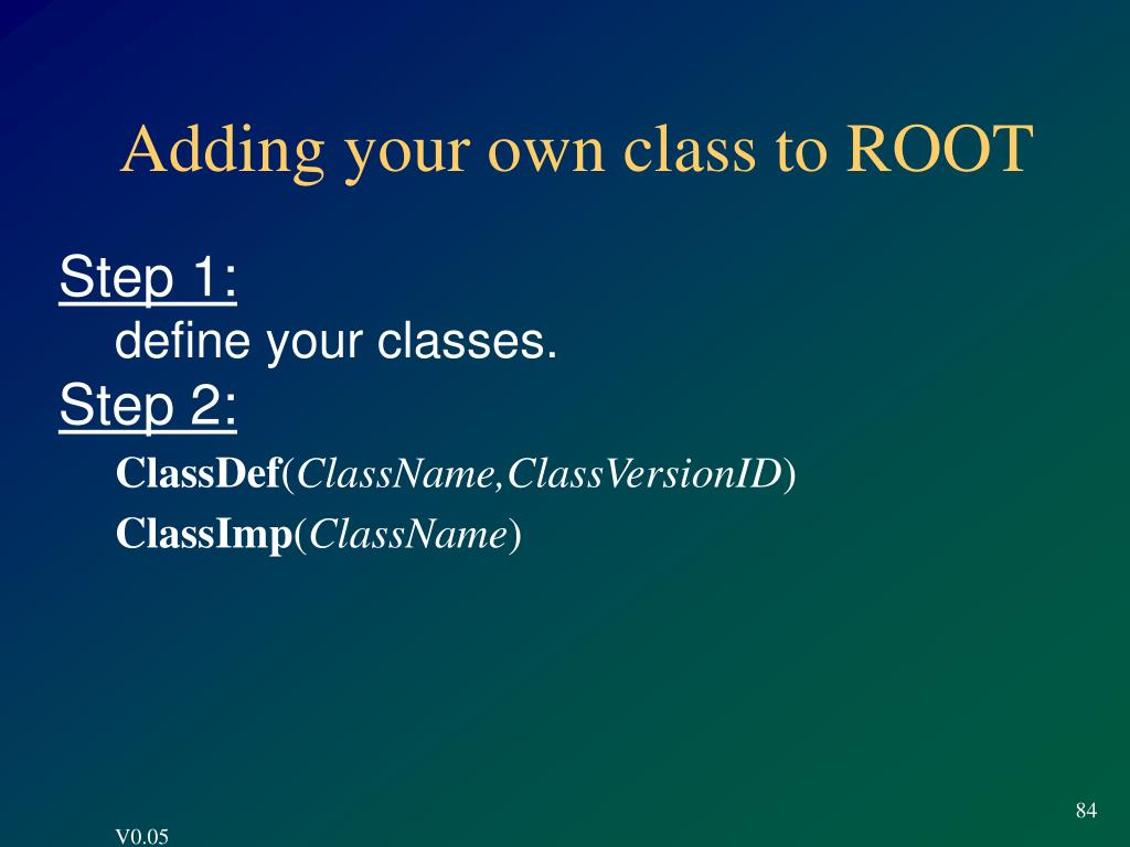 Adding your own class to ROOT