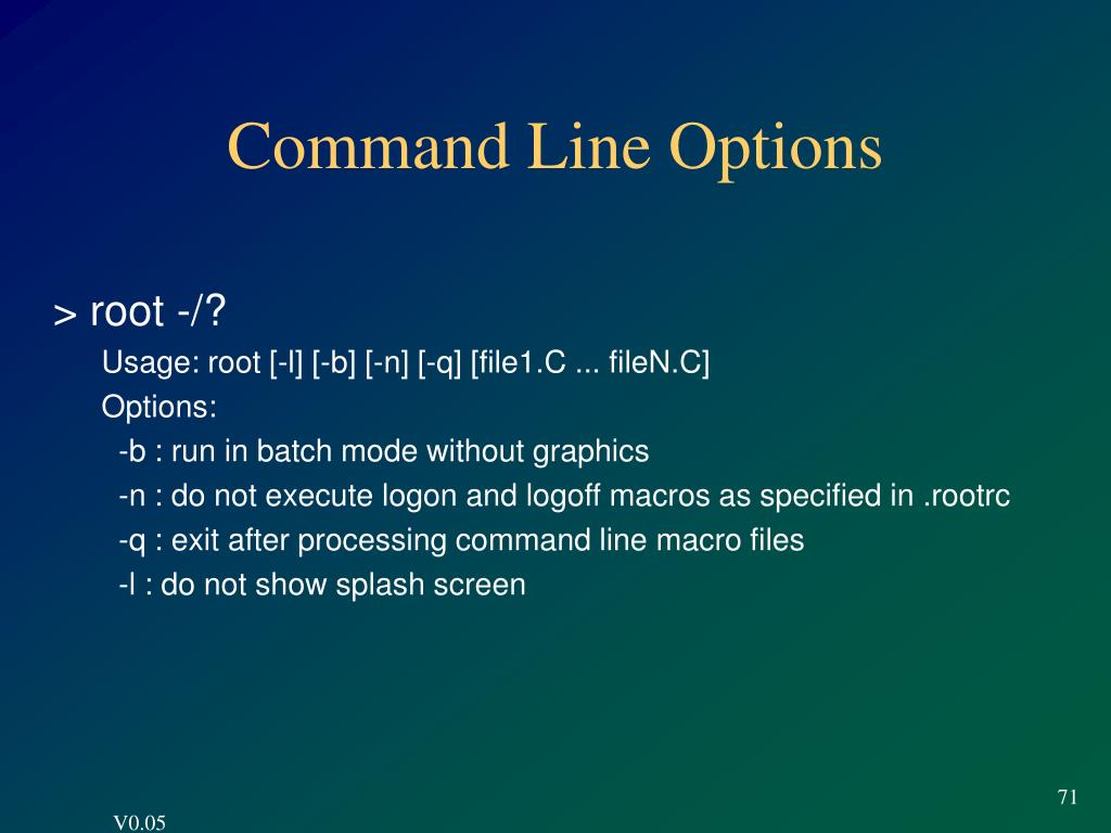 Command Line Options
