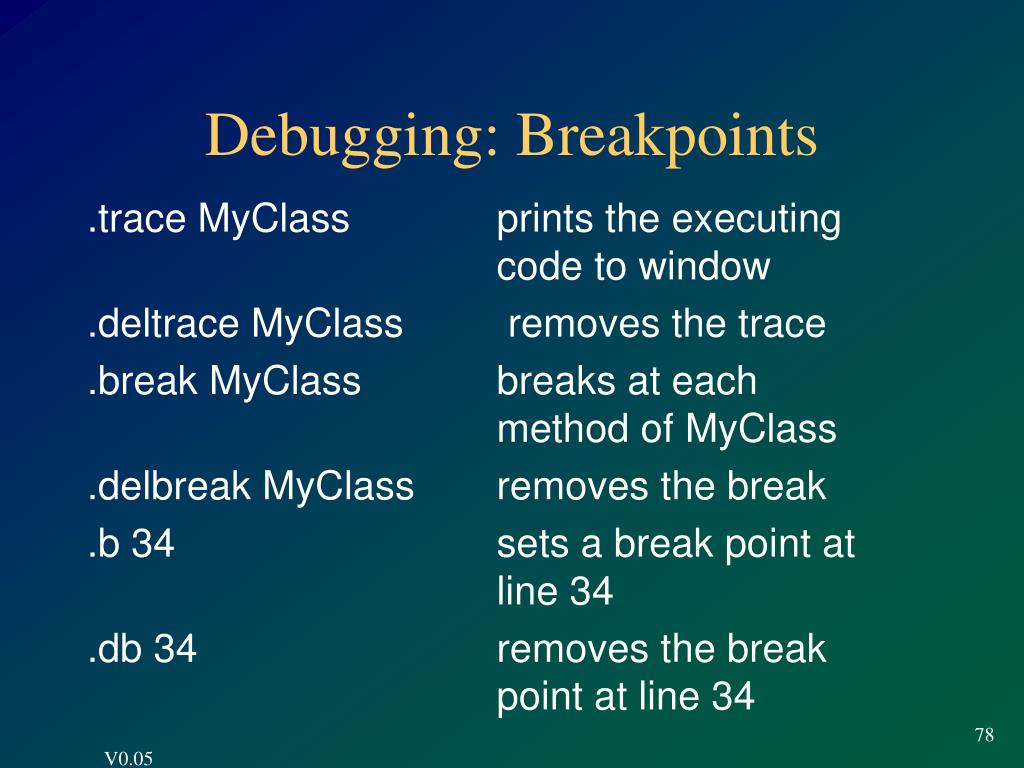 Debugging: Breakpoints