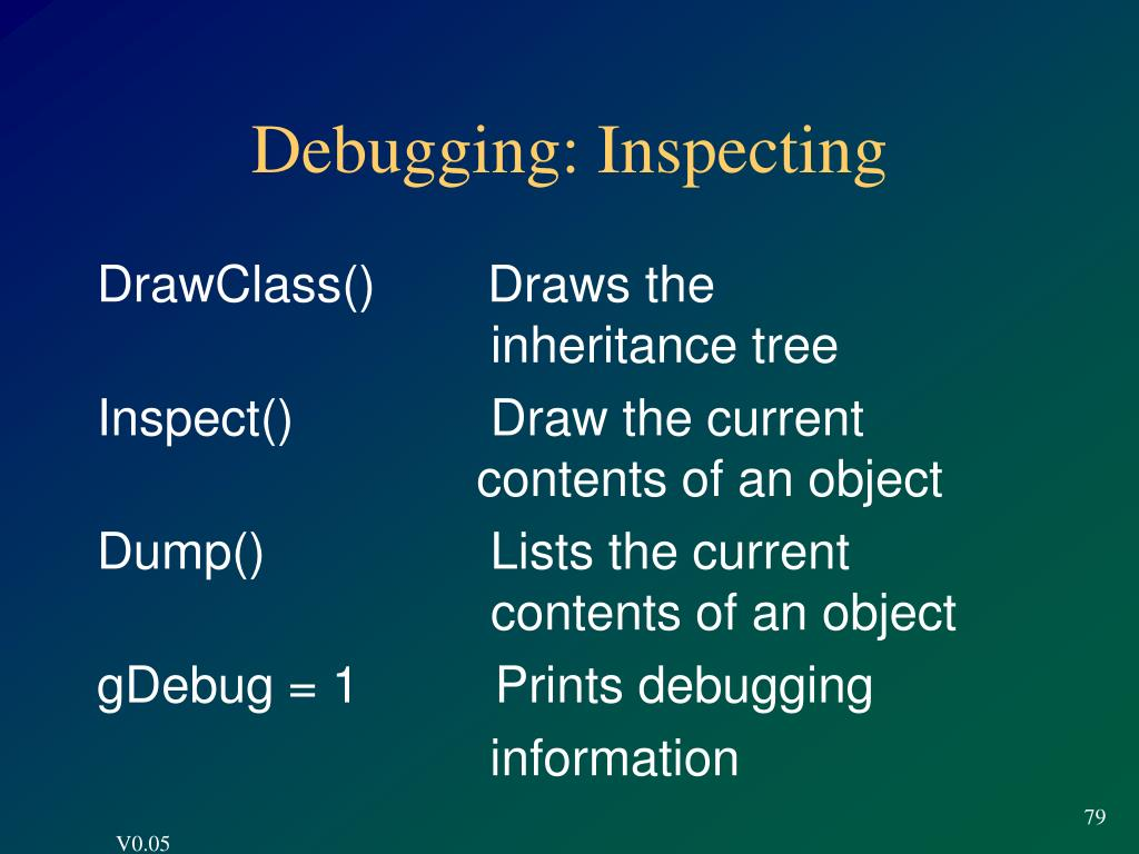 Debugging: Inspecting