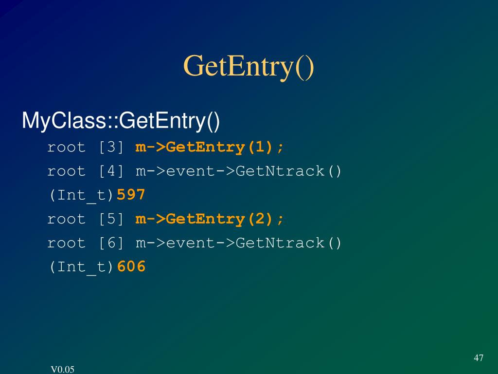 GetEntry()